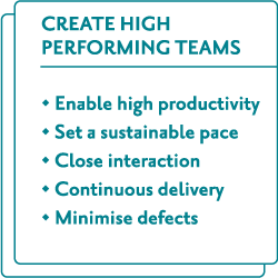 Create high performing teams