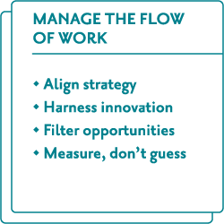 Manage the flow of work
