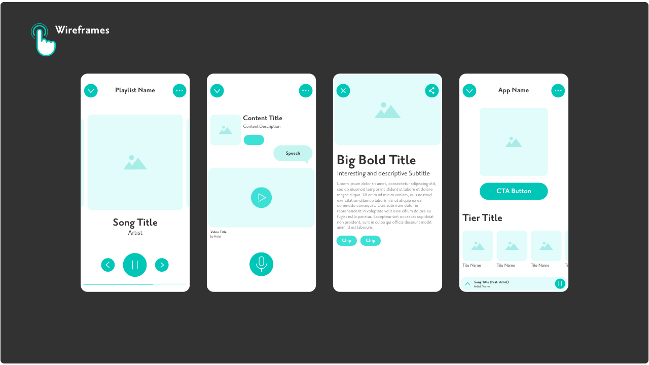 Wireframe Design Examples